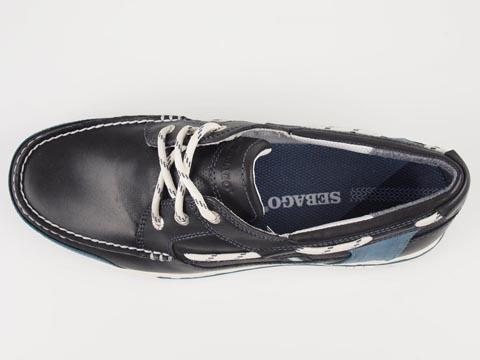 Sebago Triton Three Eyelets Navy Trapes Sko