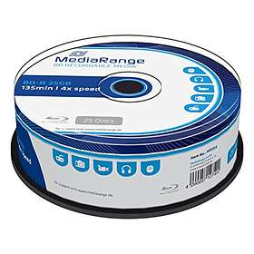 MediaRange BD-R 25GB 4x 25-pack Cakebox