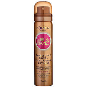 L'Oreal Sublime Bronze Self Tanning Dry Mist for Face 75ml