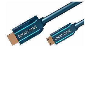 ClickTronic Casual HDMI - HDMI Mini High Speed with Ethernet 2m