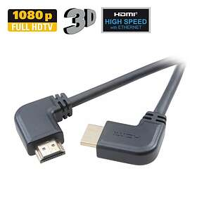 Vivanco HDMI - HDMI High Speed with Ethernet (2x angled) 1,5m