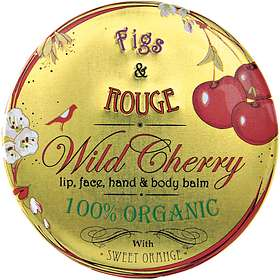 Figs & Rouge Wild Cherry Lip Balm Pot 17ml
