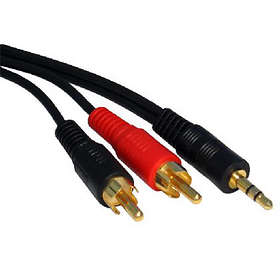 Cables Direct Gold 3.5mm - 2RCA 15m