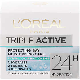 L'Oreal Triple Active Day Protecting Moisturizing Cream Norm/Comb Skin 50ml
