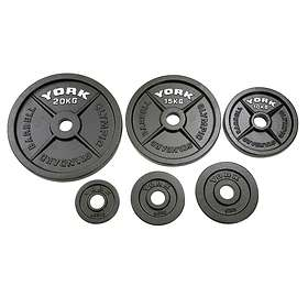 York Fitness Fitness Cast Iron Olympic Plates 2x20kg