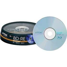 TDK BD-RE 25GB 2x 10-pack Cakebox