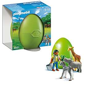 Playmobil Eggs 4931 Zookeeper with Baby Animals