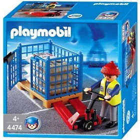 Playmobil Transport 4474 Pallet Truck with Crate