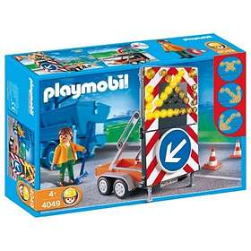 Playmobil Construction 4049 LED Signal on Trailer