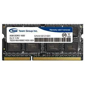 Team Group Elite SO-DIMM DDR3 1600MHz 8Go (TED38G1600C11-S01)