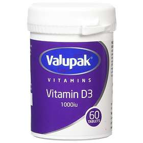 Valupak Vitamin D 1000IU 60 Tablets