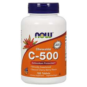 Now Foods Chewable Vitamin C-500 100 Tabletter