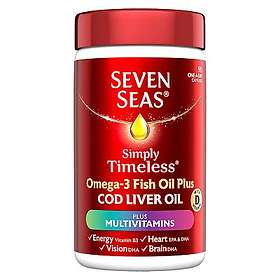 Seven Seas Pure Cod Liver Oil Plus A-Z Multivitamins 90 Capsules