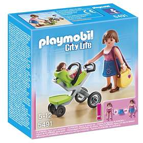 Playmobil City Life 5491 Shopping Mall Mother with Infant Stroller