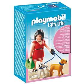 Playmobil City Life 5490 Shopping Mall Woman with Puppies