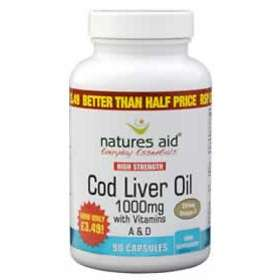 Natures Aid Cod Liver Oil 1000mg 90 Capsules
