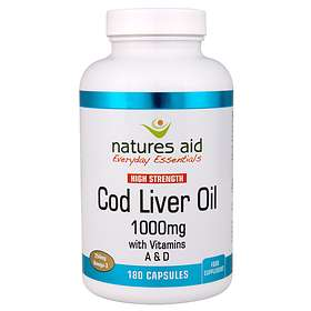 Natures Aid Cod Liver Oil High Strength 1000mg 180 Capsules