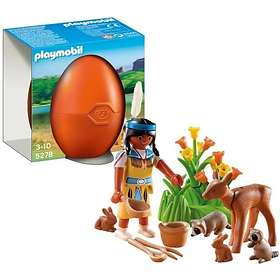 Playmobil Eggs 5278 Native American Girl with Forest Animals