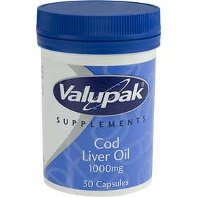 Valupak Cod Liver Oil 1000mg 30 Capsules
