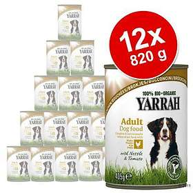 Yarrah Dog Adult Cans Chicken with Nettle & Tomato 12x0,82kg