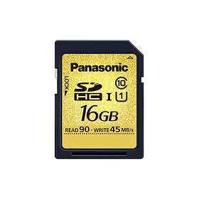 Panasonic Gold/OR SDHC Class 10 UHS-I U1 16GB