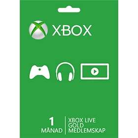 Microsoft Xbox Live Gold 1 Month Card