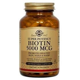 Solgar Biotin 5000mcg Vege 100 Capsules