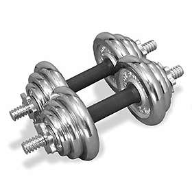 Bodypower Deluxe Rubber/Chrome Olympic Plate 2x20kg