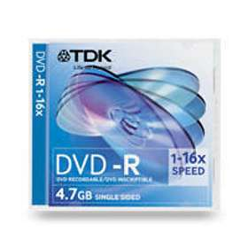 TDK DVD-R 4.7GB 16x 5-pack Slim Case