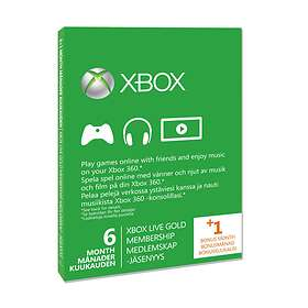 Microsoft Xbox Live Gold 6 Month Card
