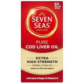 Seven Seas Extra High Strength Pure Cod Liver Oil 60 Kapslar