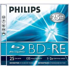 Philips BD-RE 25GB 2x 5-pack Jewelcase
