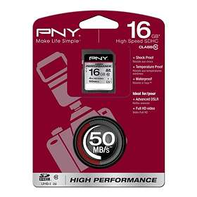 PNY High Performance SDHC Class 10 UHS-I U1 16GB