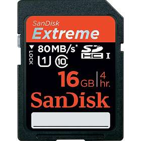 SanDisk Extreme (Plus) SDHC Class 10 UHS-I U1 80MB/s 16GB