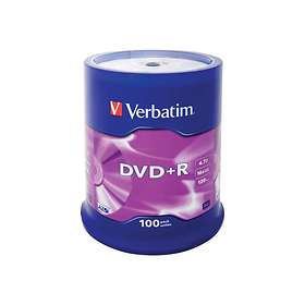 Verbatim DVD+R 4,7GB 16x 100-pack Spindel