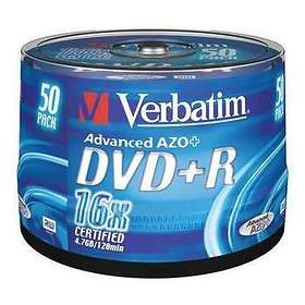 Verbatim DVD+R 4,7GB 16x 50-pack Spindel