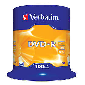 Verbatim DVD-R 4,7GB 16x 100-pack Spindel