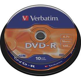Verbatim DVD-R 4,7GB 16x 10-pack Spindel