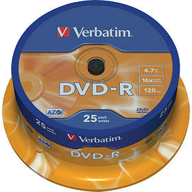 Verbatim DVD-R 4,7GB 16x 25-pack Spindel