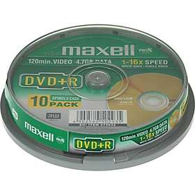 Maxell DVD+R 4,7GB 16x 10-pack Spindel