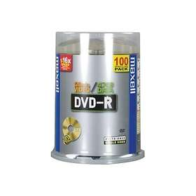 Maxell DVD-R 4,7GB 16x 100-pack Spindel