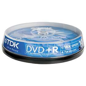 TDK DVD+R 4,7GB 16x 10-pack Spindel