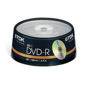 TDK DVD-R 4,7GB 16x 25-pack Spindel