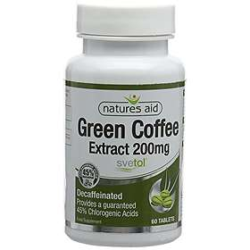 Natures Aid 200mg Green Coffee Extract Decaffeinated 60 Tablets