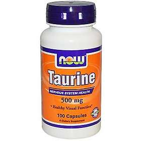 Now Foods Taurine 500mg 100 Capsules