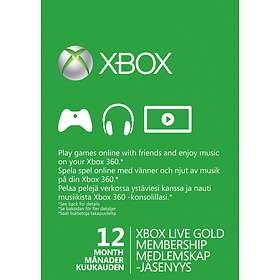 Microsoft Xbox Live Gold 12+1 Month Card