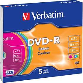 Verbatim DVD-R 4,7GB 16X 5-pack Slimcase