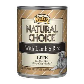 Nutro Dog Can Natural Choice Adult Lite Lamb & Rice 0.335kg