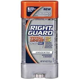 Right Guard Total Defense 5 Unscented Deodorant Power Gel 113g