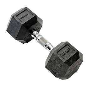 York Fitness Rubber Hex Dumbbell 10kg